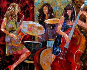 Top 10 Iconische Jazz Trio's | Fresh Jazz Agency | Art by Debra Hurd