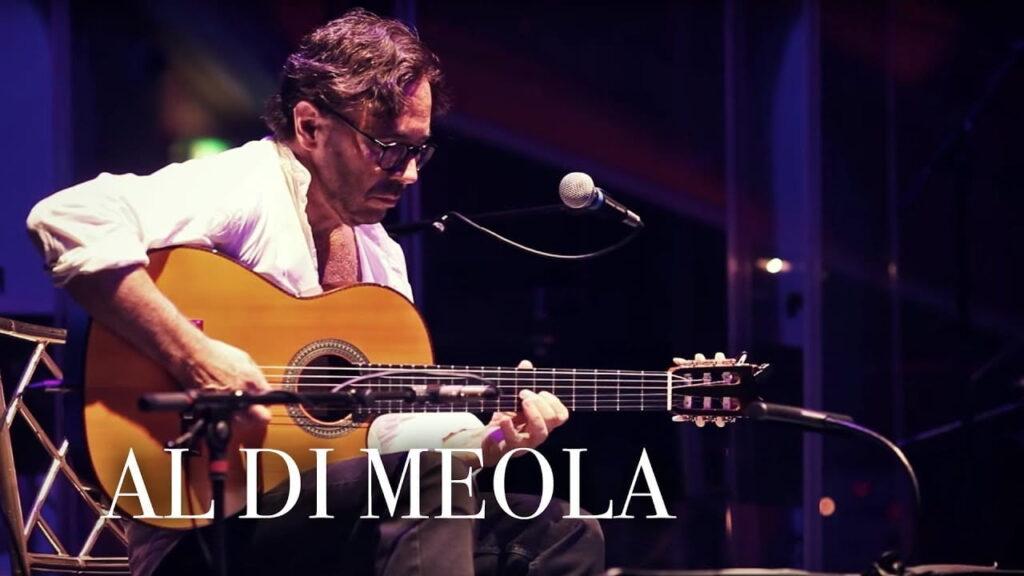 Jazz gitarist Al Di Meola