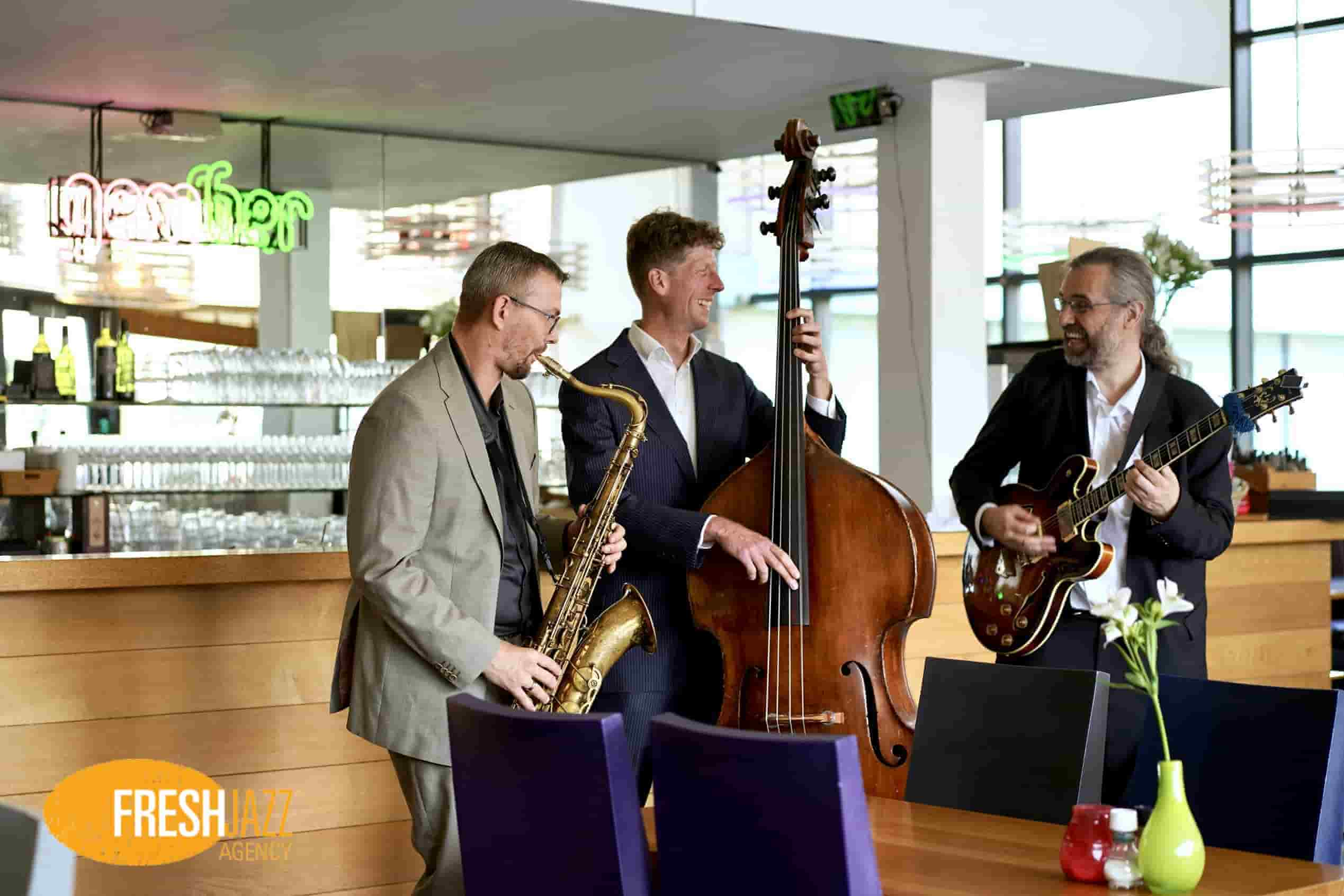 Jazz Trio Saxofoon Contrabas Gitaar | Fresh Jazz Agency